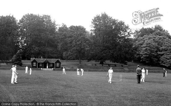 Abberley, Hall, Cricket Field c.1955