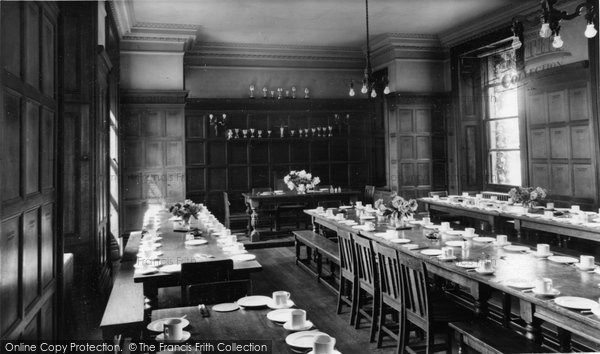 Abberley, Hall, Dining Hall c.1955