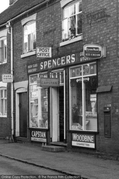 Abbots Bromley, Spencers, The High Street 1963