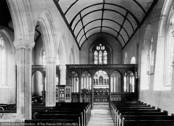 Abbotskerswell, Church Interior 1890