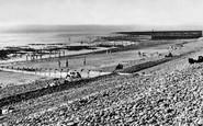 Aberaeron, Beach c.1955