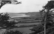 Aberaeron, View Of The Bay Towards Aberarth c.1955