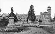 Aberdare, School And Statue From Park c.1965
