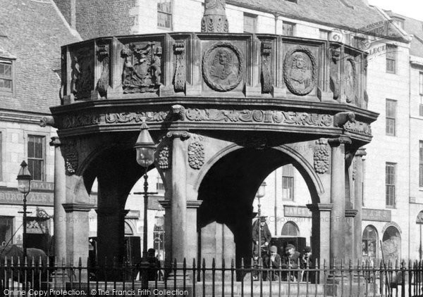 Aberdeen, The Market Cross, Detail Showing The Royal Arms 1892