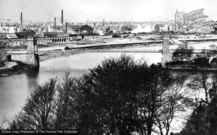 Aberdeen, The Suspension Bridge c.1885
