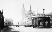 Aberdeen, Union Street And The Market Cross c.1885