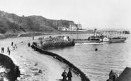 Aberdour, Steamer At The Pier 1897