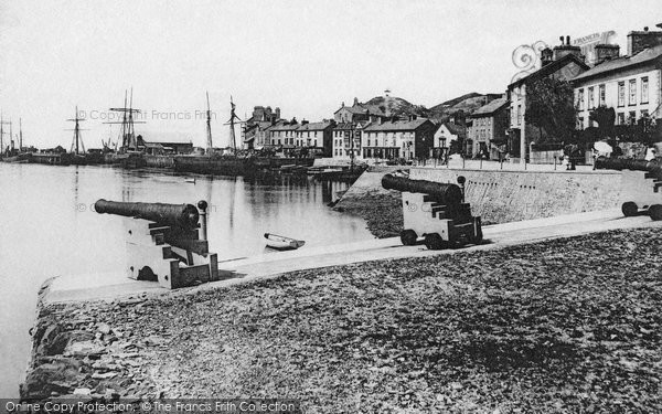 Aberdovey, The Harbour c.1890