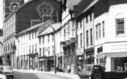 Abergavenny, Car In Cross Street c.1965