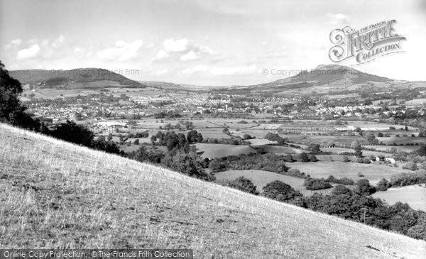 Photo of Abergavenny, from the Blorenge c1960