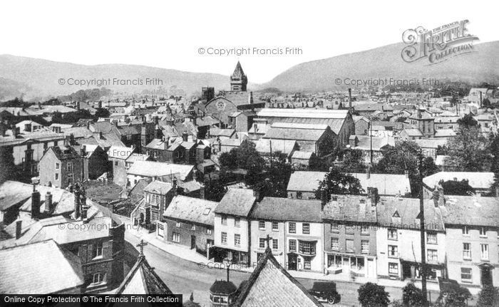Abergavenny, General View c.1955