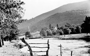 Abergavenny, River Usk And Blorenge Mountain c.1955