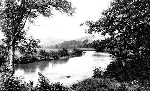 Abergavenny, River Usk And Sugarloaf 1898