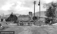 Abergavenny, St Mary's Church And The Bus Depot c.1950