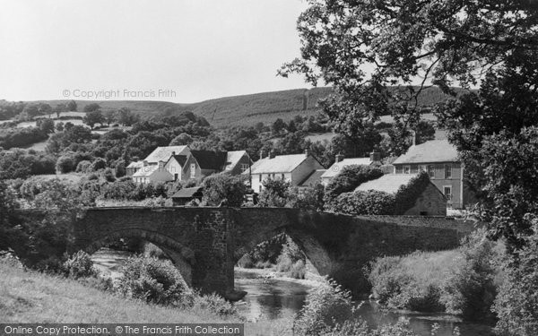 Abergorlech, Village And The Bridge 1950