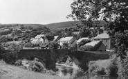 Abergorlech, Village And The Bridge 1950
