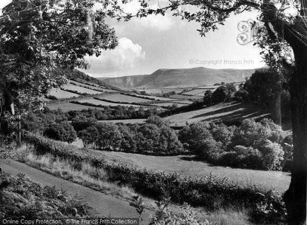 Aberhosan, Rhos Y Garreg Rocks c.1955