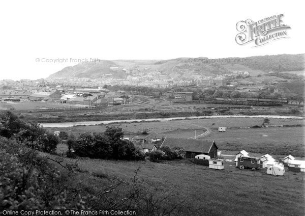 Aberystwyth, Camping Ground Showing Constitution Hill 1949