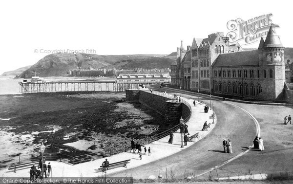 Aberystwyth, College And Promenade 1906