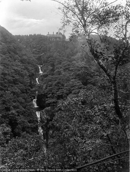 Aberystwyth, Devils Bridge Falls And Hotel 1925