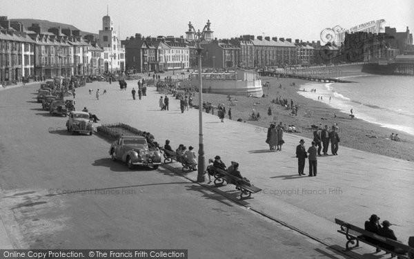 Aberystwyth, Promenade And Beach 1949