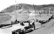 Aberystwyth, Promenade And Beach c.1930
