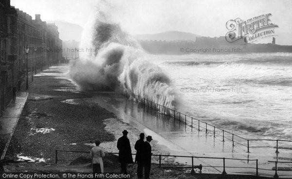 Aberystwyth, Rough Sea 1899