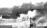 Aberystwyth, Rough Sea c.1930