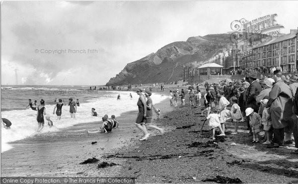 Aberystwyth, The Beach 1925