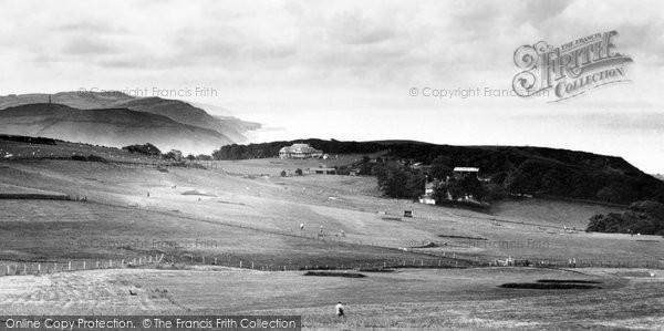 Aberystwyth, The Coastline And Golf Links 1931