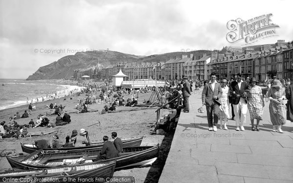 Photo of Aberystwyth, the Promenade 1925