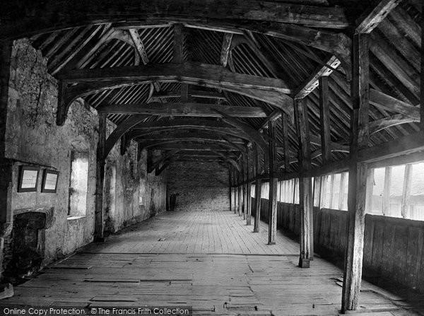 Abingdon, Abbey Interior, Guest House, Long Gallery 1924