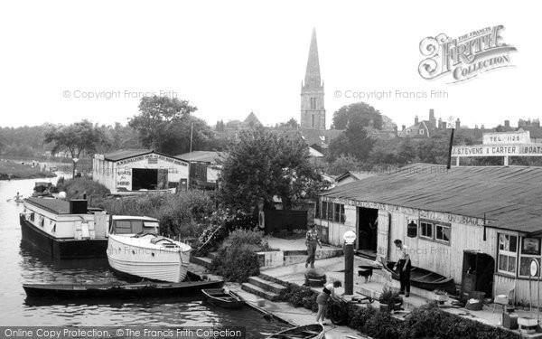 Abingdon, Boatyards On The River Thames c.1960