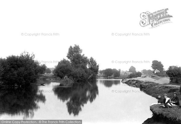 Abingdon, Looking Towards Abbey Lock1890