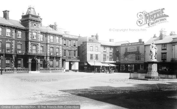 Abingdon, Market Place And Queens Hotel 1893