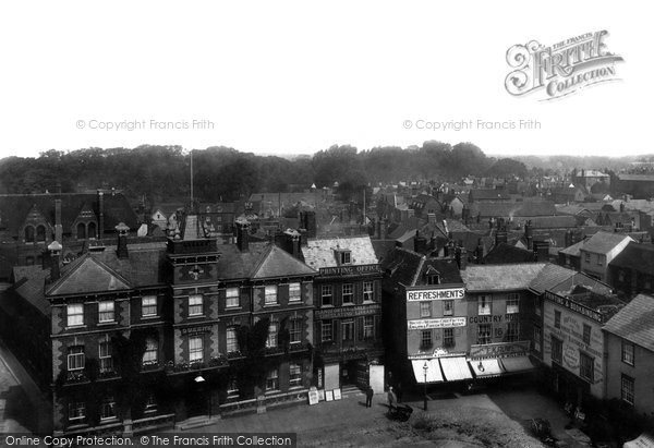 Abingdon, Market Place From Town Hall Roof 1900