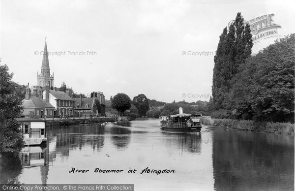 Abingdon, River Steamer c.1947