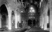 Abingdon, St Helen's Church Interior 1893