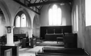 Abinger Common, The Church Interior c.1965