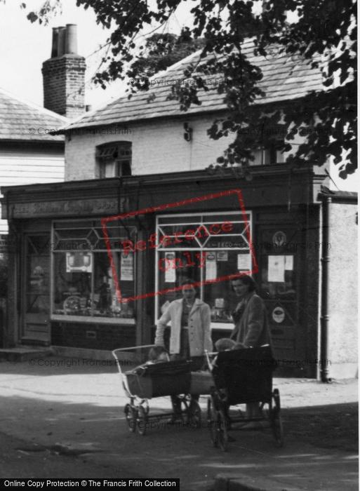 Abridge, The Village Shop c.1960