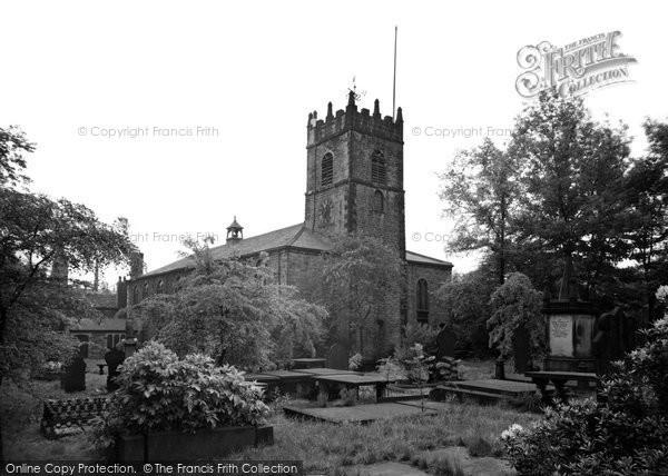 Accrington, St James' Parish Church c.1955