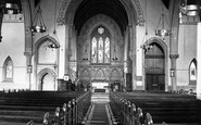 Accrington, St John's Church, Interior c.1945