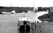 Acle, Boats Near Acle Bridge c.1929