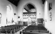 Acle, interior of the Church c1955