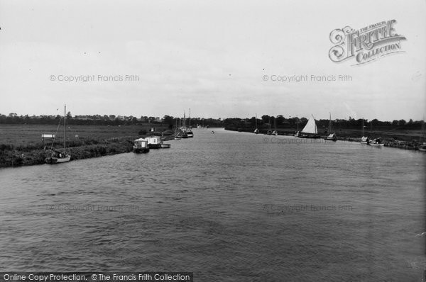 Acle, The River Bure From The Bridge c.1930