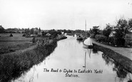 Acle, The Road And Dyke To Eastick's Yacht Station c.1929