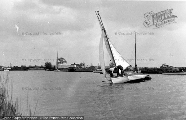 Acle, Yachting On The Bure c.1955