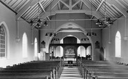 Acrefair, St Paul's Church interior c1955