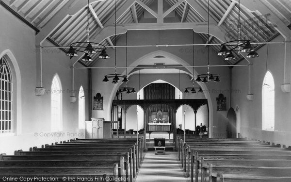 Photo of Acrefair, St Paul's Church interior c1955