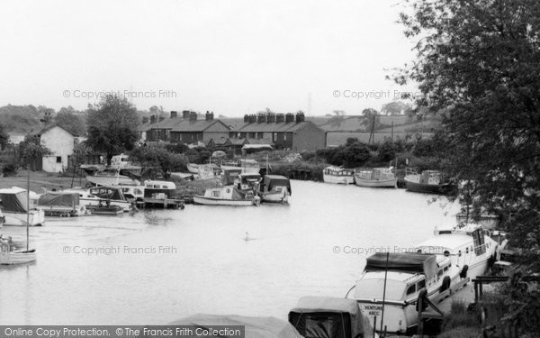 Acton Bridge, The River Weaver c.1965